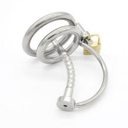 Tubo fetish uretrale online-Cintura per cavità maschile in acciaio inossidabile Cintura uretrale Uomo Bondage Fetish ZCS90 # R501
