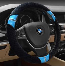 Wholesale Warm Steering Wheel Covers - Winter Steering Wheel Covers for BMW Buick Cruze Volkswagen Nissan High Quality Plush Woollen Steering Wheel Covers Warm Anti-Slip 7 Colors