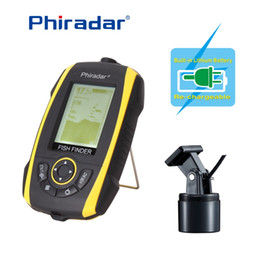 Wholesale Wired Alarms - Wholesale-Free Shipping!Phiradar FF268A Wired Portable Fish Finder 240ft 73M Depth Audible Fish Sonar Alarm Waterproof Fishfinder