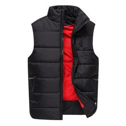 Wholesale Ems Free Vest - Hot sell Men's PoLo cotton wool collar hooded down vests sleeveless jackets plus size quilted vests Men PAUL vests outerwear Free send EMS