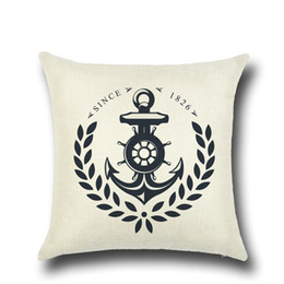 Wholesale Mediterranean Decorating Styles - 5 PCS 2017 Hot Pillow Cover Decorate Vintage Mediterranean Capa Almofada Marine style Throw Pillows Gifts Pillow Case