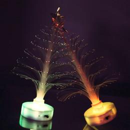 Wholesale Fiber Sensors - Colorful decorative Christmas tree fiber optic sensor LED night light emitting toys wholesale lovely romantic gift paste