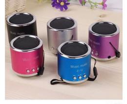 Wholesale Wholesale Cheap Mini Speakers - cheap FM Radio Portable Speaker Z12 support USB Micro SD TF Card Mp3 Mini subwoofer PC Speaker Music box mp3 speakers