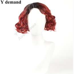 Wholesale Cheap Red Curly Synthetic Wigs - Synthetic Wigs for Black Women Red Wig African American Short Natural Cheap Kinky Curly Hair Heat Resistant Full Head