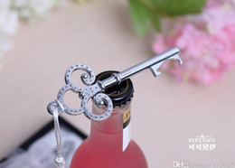 Wholesale Bottle Collection - 100pcs lot Wedding Favors Key To My Heart Collection Key Design Bottle Opener Party Favors DHL Fedex Free Shipping