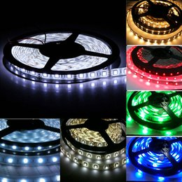 Wholesale Smd Waterproof Strip Lights - SMD 5050 Led Strip Light Best Quality DC 12V RGB Colorful Waterproof LED Lighting Strips for Home Christmas Tree Decorations