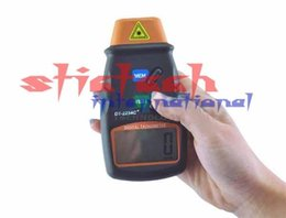 Wholesale Tachometer Lcd Display - Wholesale-by dhl or ems 30 pieces Portable Non-contact Reflective Mark, Digital Laser Photo Tachometer w microcomputer, LCD display