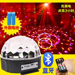 Wholesale Magic Jumping Light Ball - DJ Club Bar Disco Party Crystal LED RGB Magic Ball Stage Effect Lighting Auto Voice Activated Remote Control Dance Floor Lights Battery Ope