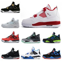 Wholesale Authentic Boots - High Quality shoes 4 Man Basketball Shoes Authentic IV Boots White Cement Fire Red Bred Bulls Mens Sport Shoes Free Shipping