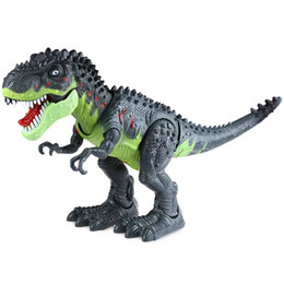 Wholesale Battery Operated Toy Animals - Realistic Electric Animal Model Tyrannosaur Battery Operated Assemble Dinosaur Simulated Walking Toy Gift for Kids