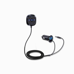 Wholesale Audio Player Apple - BC20 Car Bluetooth Handsfree Music Player Car Bluetooth Receiver Audio Adapter AUX Phone Music Talker Support Apple siri
