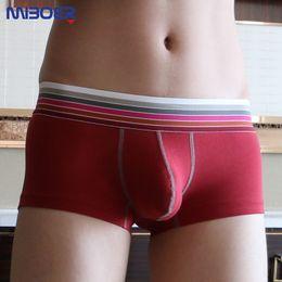 Wholesale Sexy Men Underware - Brand Men Underwear Boxers Gay Penis MIBOER 2016 Cotton Sexy Men U Convex Pouch Man Underware Fashion Cueca Boxer