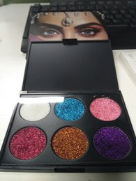 Wholesale Mps Water - New brand MP&Beauty 6 color Pigmented Glitter shadows waterproof shimmer makeup eyeshadow top quality dhl shipping