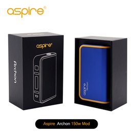 Wholesale Button Battery Box - Authentic Aspire Archon Box Mod 150 TC Mod with the CFBP Function One-button Selection Powered by Dual Bay 18650 Batteries