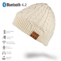 beste bluetooth mic Rabatt Neue drahtlose Musik-Hut-Kappe Bluetooths 4.2 mit Stereo-Kopfhörer-Kopfhörer-Lautsprecher Mic für Sport im Freien Bestes Weihnachtsgeschenk