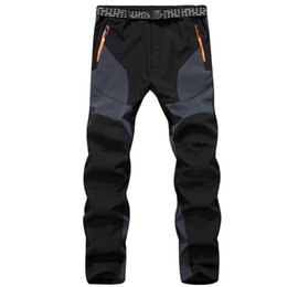 Wholesale Fly Tech - Winter Tech Fleece Softshell Ski Pants Men Outdoor Sport Hiking Waterproof Trousers Trekking Camping Casual Windproof Sportwear