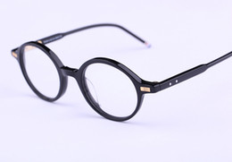 Wholesale Vintage Steel Box - Famous Brand TB-407 Square Vintage Myopia Computer Optical Glasses Frame TB Men and Women Retro Eyeglasses Eyewear For Male With Box 46mm