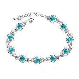 Wholesale Network Crystal - 2016 Accessories wholesale purchase network Korea unique sweet Austrian crystal bracelet Fashionable joker - rainbow sugar - G063