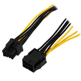 Карты gpu онлайн-Оптовая продажа-8-дюймовый Molex 8-контактный разъем PCI Express для Pcie 8-контактный (6+2) PC материнская плата видеокарта Pci-E GPU VGA ATX блок питания удлинительный кабель