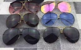 Wholesale Extra Lenses - Design P 8478 Titanium Gunmetal Aviator Sunglasses +Extra Lenses Unisex 2016 Fashion Eyewear Brand New with Box