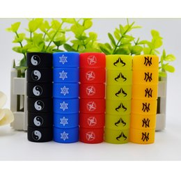 Wholesale 2mm 22 - Newest Colorful Custom rubber Vape Band Silicone Ring for e cig mechanical mod glass tank with oem logo 22*12*2mm