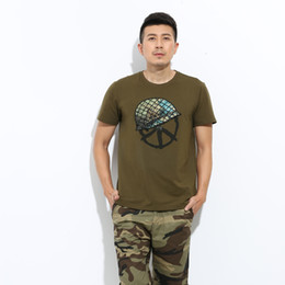 Wholesale Army Men Clothes - 2016 Fashion T Shirt Men Army Green Sport Casual Baggy Camouflage Short-Sleeved t-shirt fitness Brand Clothing MS-631 Z45