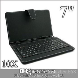Wholesale Leather Case Keyboard Micro Usb - 10X OEM Leather Case with Micro USB Interface Keyboard for 7 inch MID Tablet PC A-JP