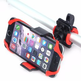 Wholesale Iphone Handlebar - Bike Bicycle Spider Web Stand Holder Phone Handlebar Clip Stand Mount Bracket Flexible 360 Degree for iphone 6s Samsung Smart phone GPS