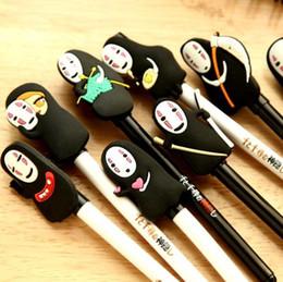 Wholesale Face Art Designs - 20Pcs  Lot New Cute Japan Cartoon No Face Male Design Quality Gel Pen Black Ink Pen Wholesale