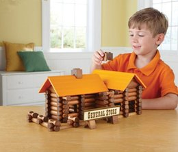 toy cabin prices - Children's toys play house diy cabin house handmade birthday gift toy building blocks of cottages