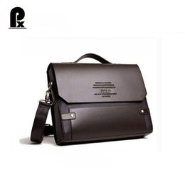 Wholesale Executive Fashion - Wholesale- Pacento Polo videng bag luxury brand men messenger shoulder bags pasta executive masculine leather briefcase bolsos sac a main