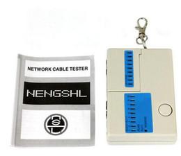 Wholesale Fast Ethernet Ports - Hot selling New Pocket LED Ethernet 4 Port RJ45 RJ11 Cat5 Network LAN Cable Tester With Keychain DHL fast