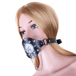 Wholesale Oral Gag Harness - Harness Open Mouth O Ring Gag Stopper with Removable Cover Restraints Bondage Adult Games Sex Toys for Couples Oral Sex Products