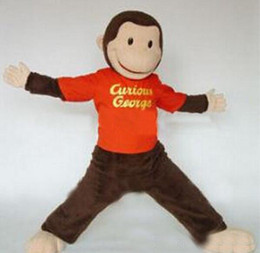 Wholesale Curious George monkey mascot costume custom fancy costume kits mascotte theme fancy dress carnival costume