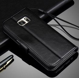 Wholesale Case Lower - Wholesale low price vintage flip stand wallet leather card case mobile phone cover for Samsung Galaxy S7 Edge