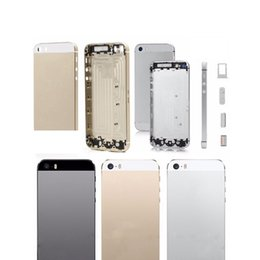 Wholesale Complete Housing - New Back Cover For iPhone 5 Complete Housing Back Battery Door Cover with Mid Frame Replacement Parts