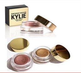 Wholesale Eye Cream Glitter - Kylie Birthday Edition Creme eye Shadow Eyeshadow Cream Makeup Creme Shadow Copper And Rose Gold 2colors Kyshadow Kit Kylie Cosmetics 1pcs