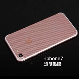 Wholesale Carbon Fiber Phone Sticker - Transparent Back Sticker For Iphone 8 I8 7 Plus Iphone7 Carbon Fiber Clear Back Film Skin Cell Phone Stickers Luxury 100pcs