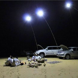 Wholesale Dhl Lantern - Factory New Arrival 12V Car Telescopic LED Fishing Rod Outdoor Lantern Camping Lamp Lights White with Remoter DHL Free Shipping
