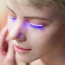 Wholesale Unique False Eyelashes - Interactive LED Eyelashes LED Lashes Shining Eyeliner Charming Unique Eyelid Tape Nightclub DJ Deco False Eyelashes LED Toys
