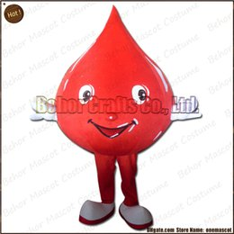 Wholesale Custom Blood Drop Costumes - Blood drops mascot costume EMS free shipping, cheap high quality carnival party Fancy plush walking Water droplet mascot cartoon adult size.