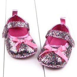 Wholesale Boy Cribs - Wholesale- Newborn Soft Baby Girl Princess Crib Shoes Toddler Sole Anti Slip Shoes Hot