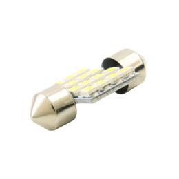 Ampoules de dôme intérieur en Ligne-16 SMD LED 1210 31mm voiture blanc chaud intérieur dôme festoon ampoule lampe DC 12V C5W lampes de lecture ampoule