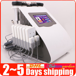 Wholesale Ultrasound Cavitation Slimming Machines - 6-1 Ultrasound Cavitation Fat Removal Vacuum RF Skin Lifting 5mw Diode Lipo Laser LLLT Body Contouring Slimming Beauty Machine