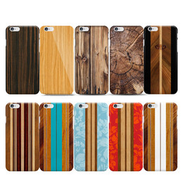 Wholesale Iphone5 Cases Wooden - New Natural Bamboo Wood Case for coque iphone5 SE 5S 6S 6 Hard Back Tree Growth Ring Vertical Stripe Pattern Wooden Case Capinha