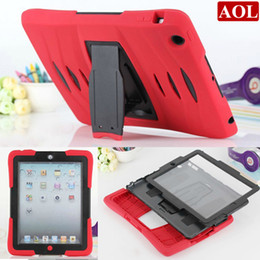 """Wholesale Military Shipping Case - Free Shipping by ePacket For ipad air 2 3 4 5 6 9.7"""" Heavy duty military defender Shockproof Case with screen protector"""