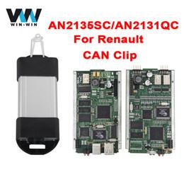 Wholesale Clip Obd - For Renault V160 AN2135SC AN2131QC CYPRESS Full CAN Clip OBD OBD2 Diagnostic Scanner For Renault Can Clip Diagnostic Interface