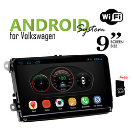 Wholesale Gps Navigation Din Japanese - 9 inch for Volkswagen Universal Android Headunit Car DVD with GPS Navigation Car Radio Wifi Bluetooth