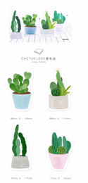 Canada 24 Pcs / Lot Cactus Amour Collant Mémos 30 Feuille De Papier Pad Adhésif Message Notes Papeterie Bureau Accessoires Fournitures Scolaires Offre