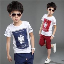 Wholesale Children S Summer Clothes Sale - New Hot Sale Summer Kids Boys T Shirt Shorts Set Children Short Sleeve Shirt Boys Clothing Set Kids Boy Sport Suit Outfit
